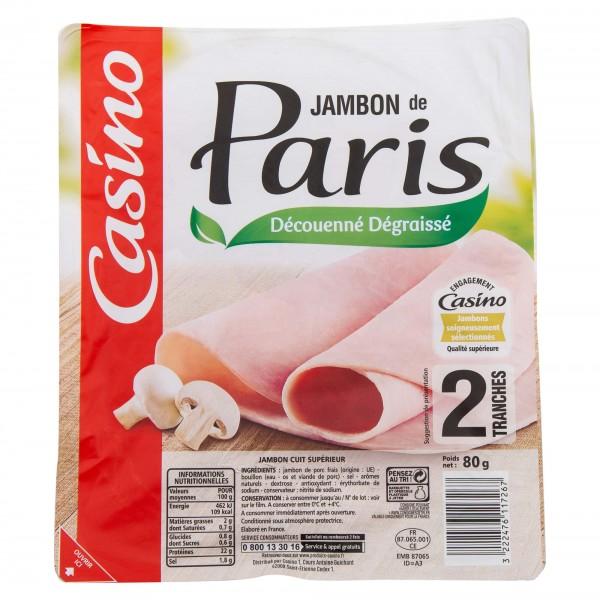 Casino Jambon De Paris DD 2 Tranches 80G 492069-V001 by Casino