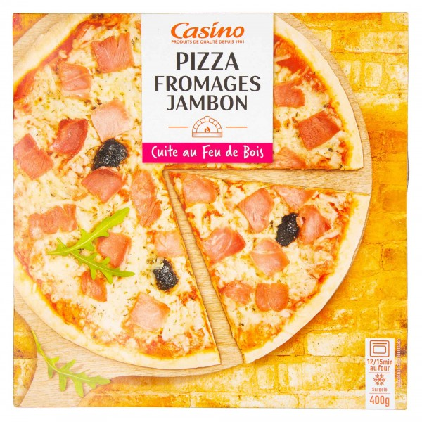 Casino Pizza Fromages Jambon 400G 492231-V001