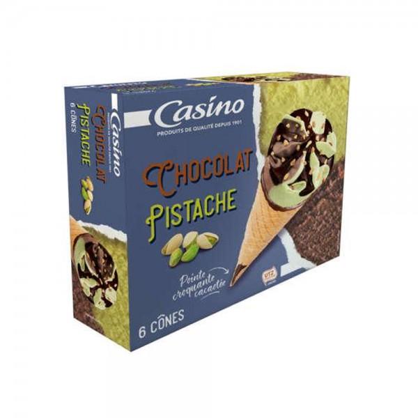 6 CONES CHOCO PISTACHE 492282-V001 by Casino