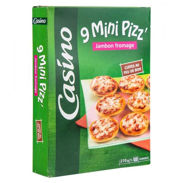 Casino 9 Mini Pizz' Jambon Fromage 270G 492299-V001