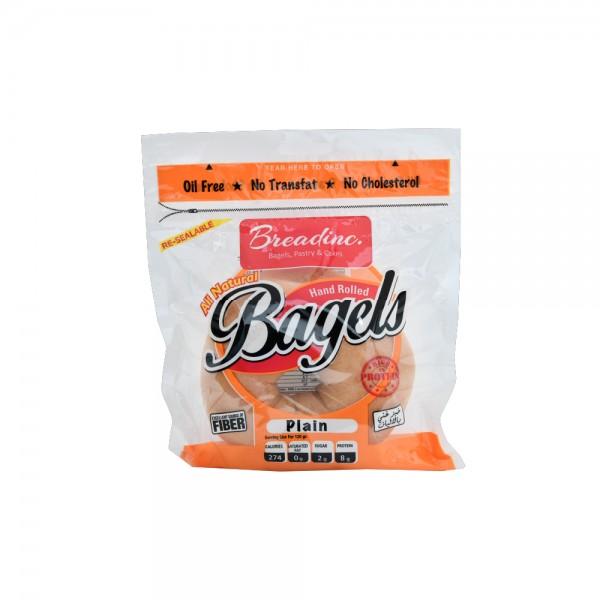 T.Breadinc Plain Bagel Single Pack 120g 492420-V001 by Breadinc