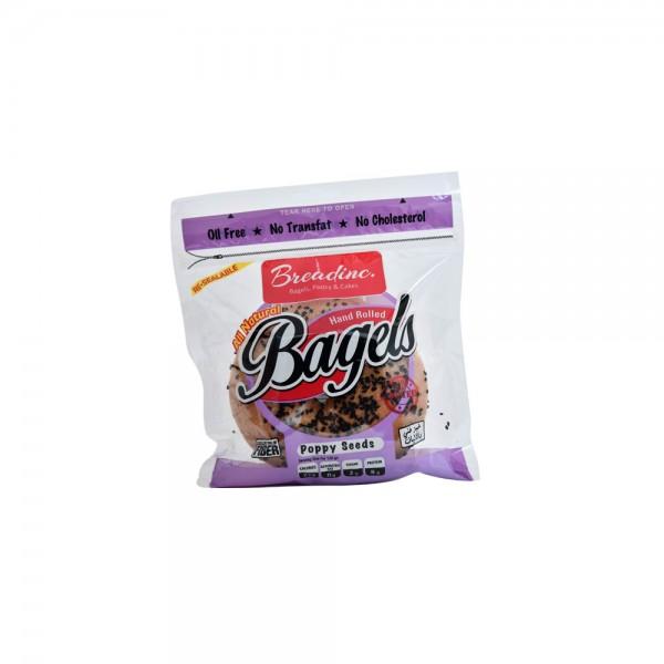 T.Brandinc Poppyseed Bagel Single Pack 120g 492467-V001 by Breadinc