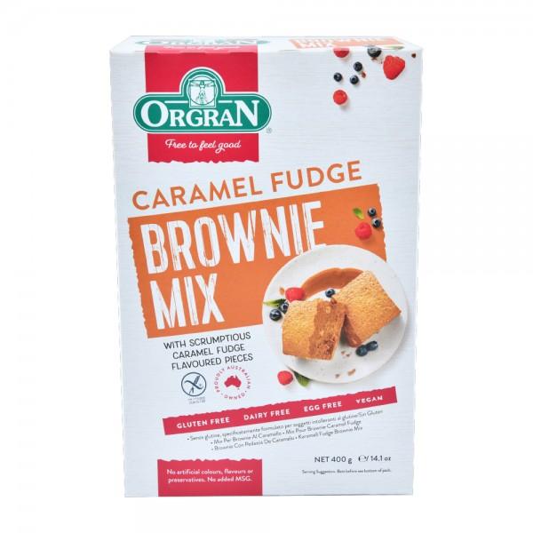 Orgran Gluten Free Caramel Fudge Brownie Mix 400G 492726-V001 by Orgran