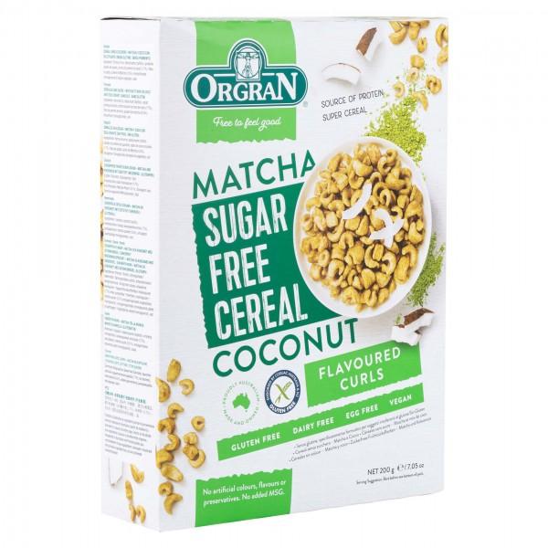 Orgran Sugar Free Matcha & Coconut Cereal 200G 492727-V001
