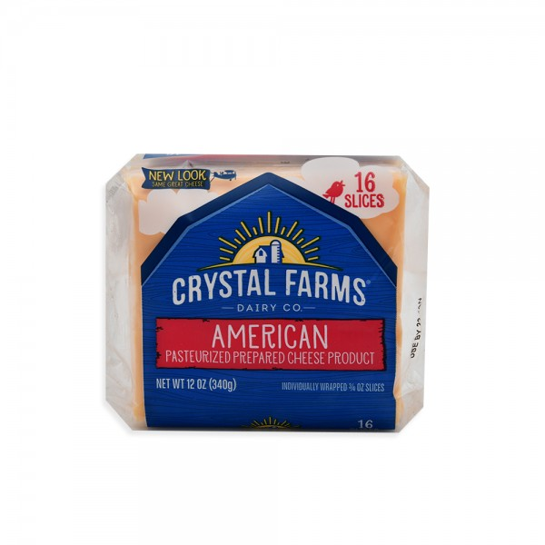 Crys.Farms American Cheese 16 Singles 492791-V001 by Crystal Farms