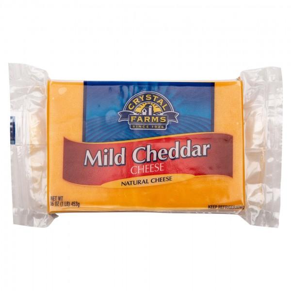 Crystal Farms Mild Cheddar Cheese Chunk 16oz 492796-V001 by Crystal Farms