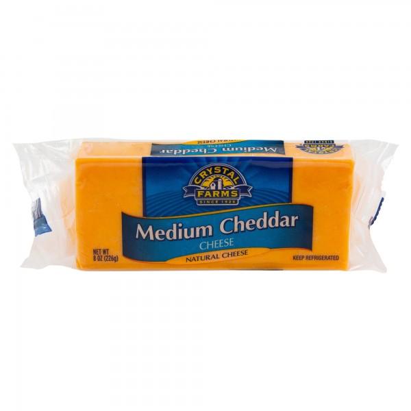 Crys.Farms Medium Cheddar Cheese Chunks 492807-V001 by Crystal Farms