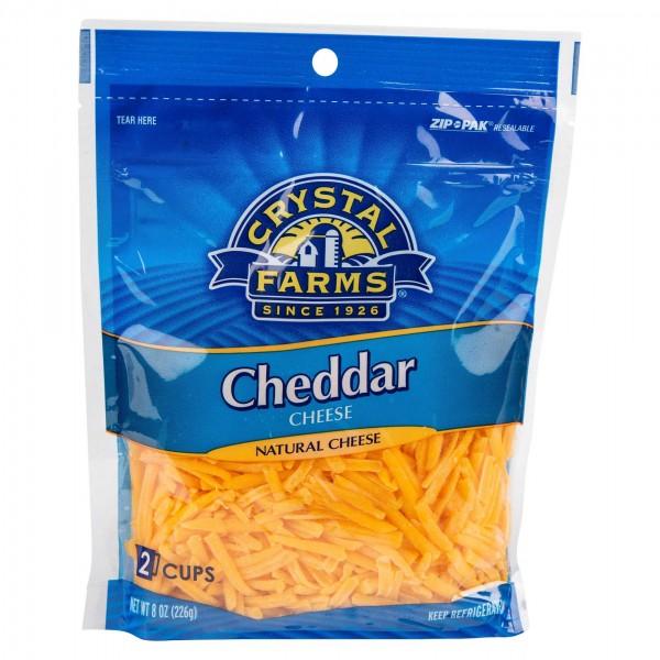 Crystal Farms Shredded Cheddar Cheese 8oz 492810-V001 by Crystal Farms