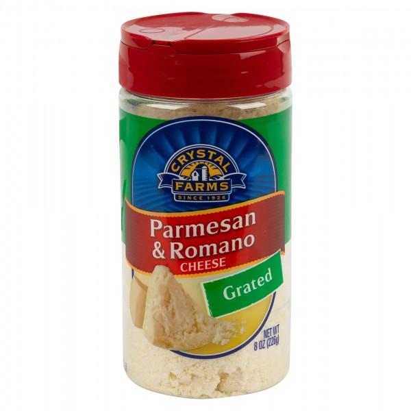 Crystal Farms Parmesan Romano Cheese Grated 8oz 492811-V001 by Crystal Farms