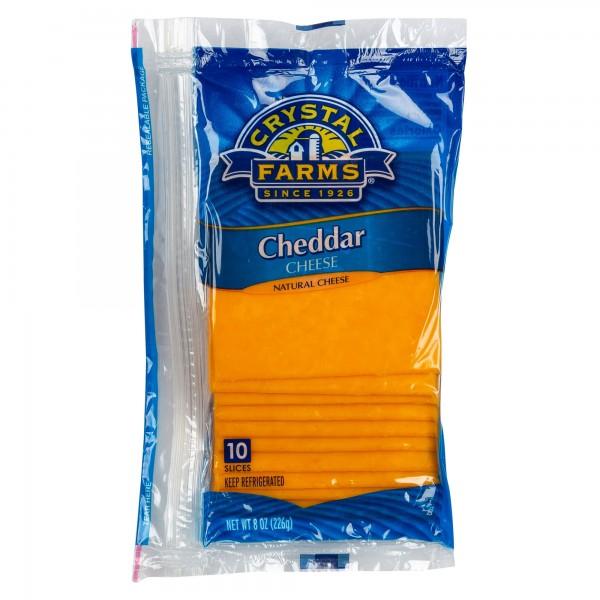 Crystal Farms Mild Cheddar Cheese 8oz 492813-V001 by Crystal Farms
