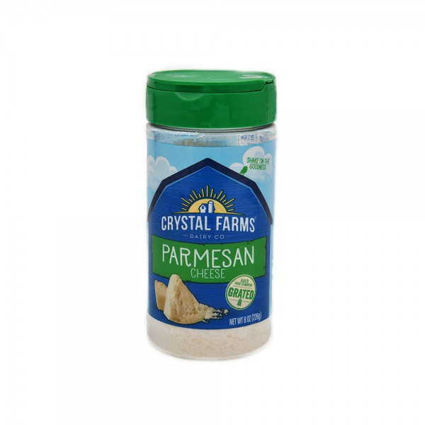 Crystal Farms Parmesan Shaker Cheese Grated 8oz 492814-V001 by Crystal Farms