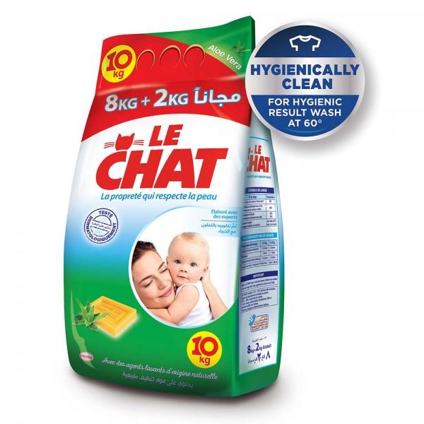 Le Chat Washing Powder Aloe Vera 8+2Kg 493019-V001 by Le Chat
