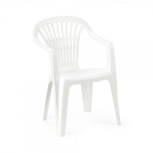 SCILLA MONOBLOCK CHAIR WHITE 494200-V001 by Pro Garden Collection
