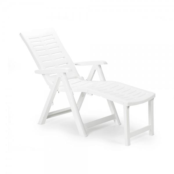 ARIZONA FOLDING ARMCHAIR WHITE 494230-V001 by Pro Garden Collection