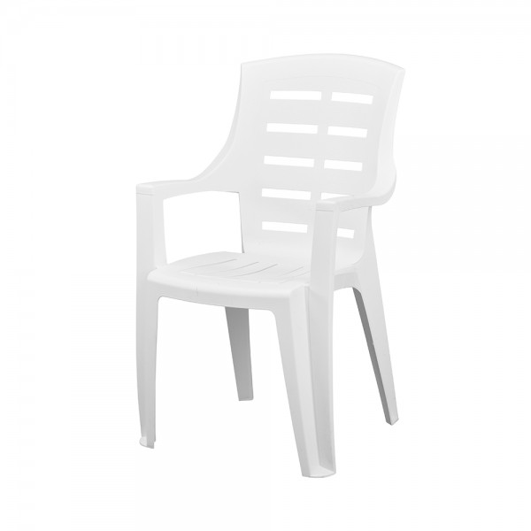 JAKARTA CHAIR HIGH BACK WHITE 494302-V001 by Pro Garden Collection