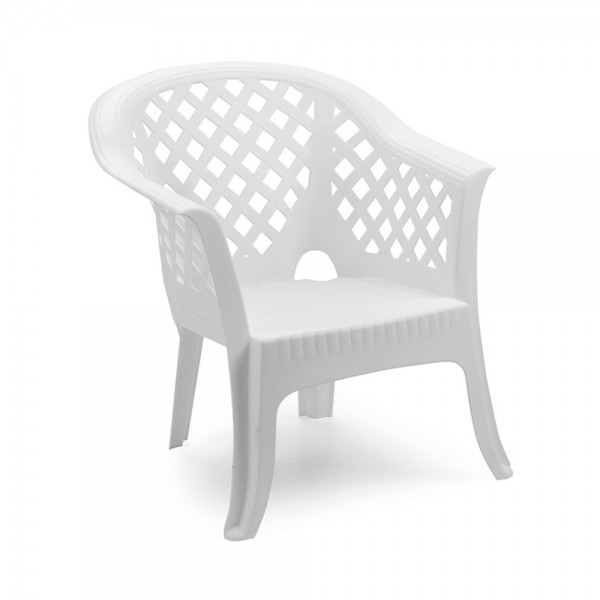 LARIO STACKABLE ARM CHAIR WHITE 494317-V001 by Pro Garden Collection