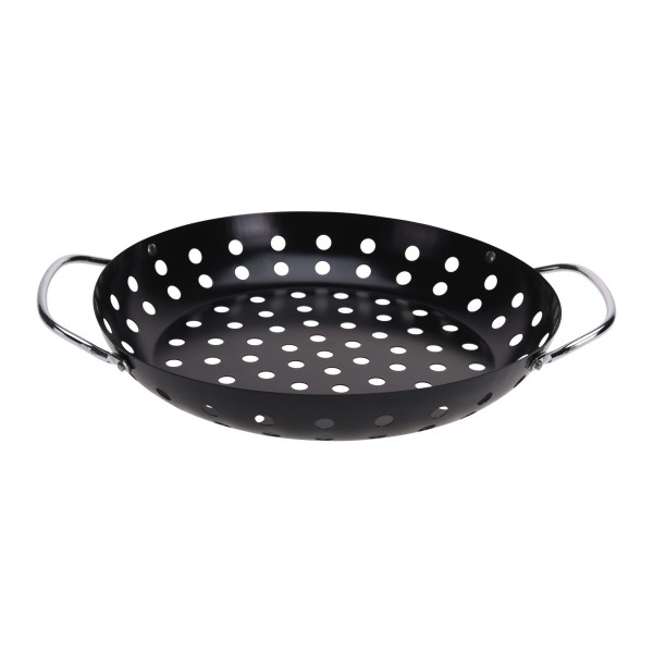 BBQ GRILLROUND BLACK WITH 2 HANDLE 494671-V001 by BBQ