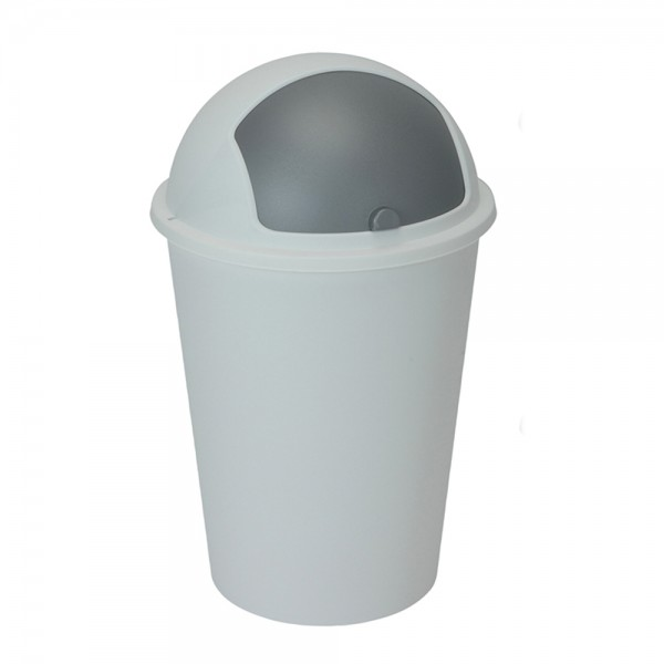 TRASH BIN PLASTIC MIXED COLOR 494690-V001 by EH Excellent Houseware