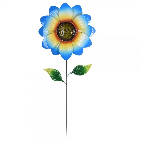 Flower Metal On Stick 4Ass Clr - 71Cm 495070-V001 by Home Collection