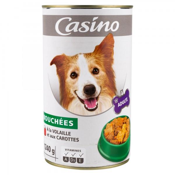 Casino Adulte Chien Bouchees A La Volaille Et Aux Carottes 1240G 495252-V001 by Casino