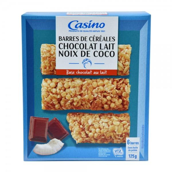 Casino Barres Chocolat Au Lait Noix De Coco125G 495329-V001 by Casino