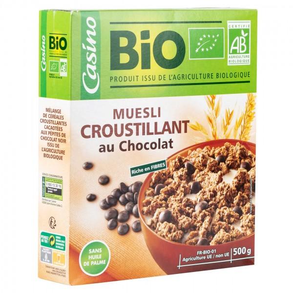 Casino Bio Muesli Croustillant Au Chocolat 500G 495335-V001 by Casino