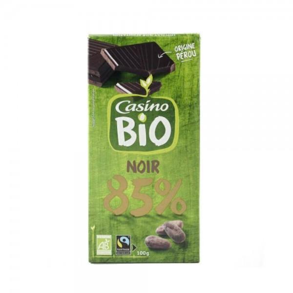 CHOC NOIR PEROU 85PCENT BIO 496044-V001 by Casino