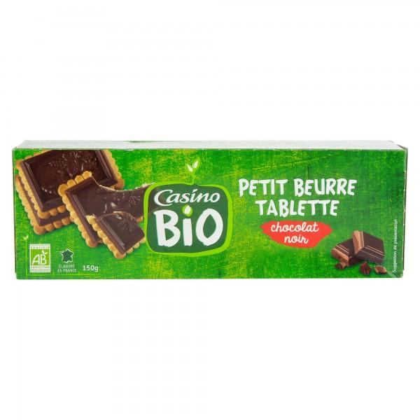 Casino Petit Beurre Choco Noir Bio 150G 496065-V001 by Casino
