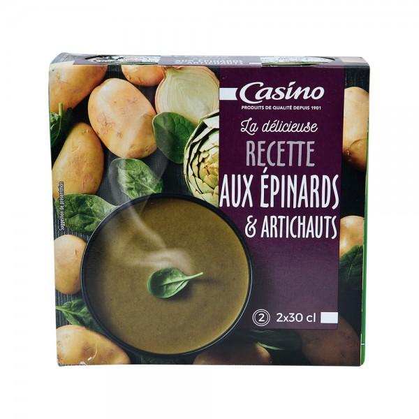 Casino Veloute Epinard Artichaut - 2X300Ml 496398-V001 by Casino