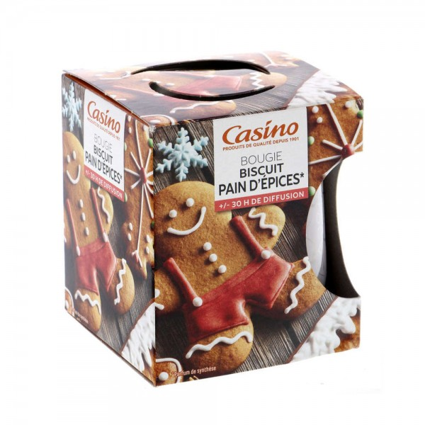 BOUGIE BISCUIT PAIN D'EPICES 496840-V001 by Casino