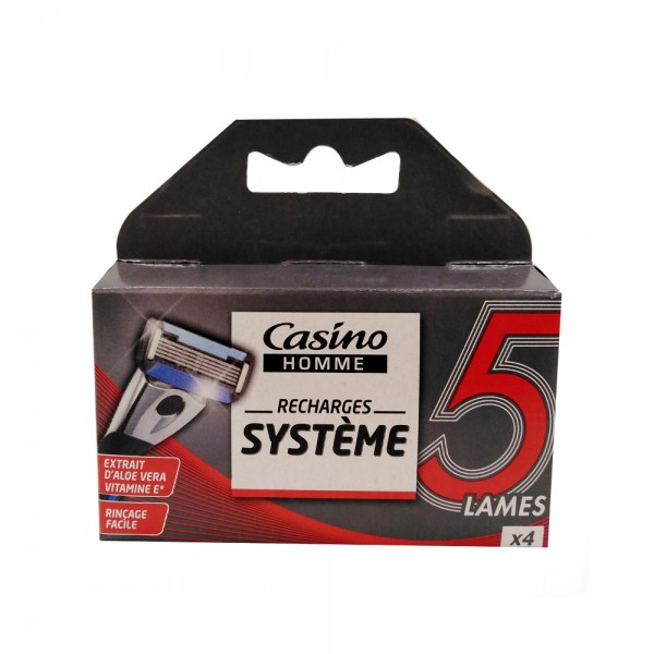 RECHARGE RASOIR SYSTEM 5LAMES 497097-V001 by Casino