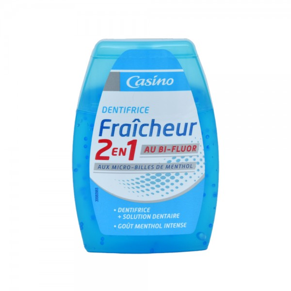 Casino Dentifrice 2N1 Fraicheur Fluor - 75Ml 497112-V001 by Casino