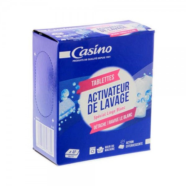 Casino Pastille Activeur Lavage Blanc 10x20g 497251-V001 by Casino