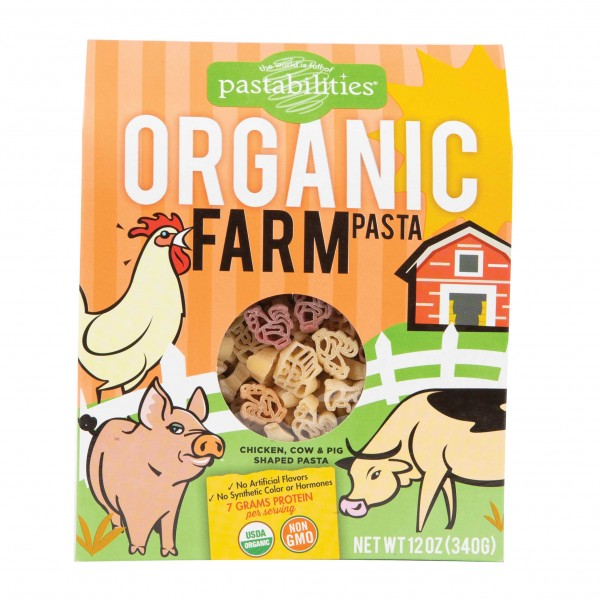 Pastabilities Organic Kids Farm Pasta 12Oz 498651-V001 by Pastabilities