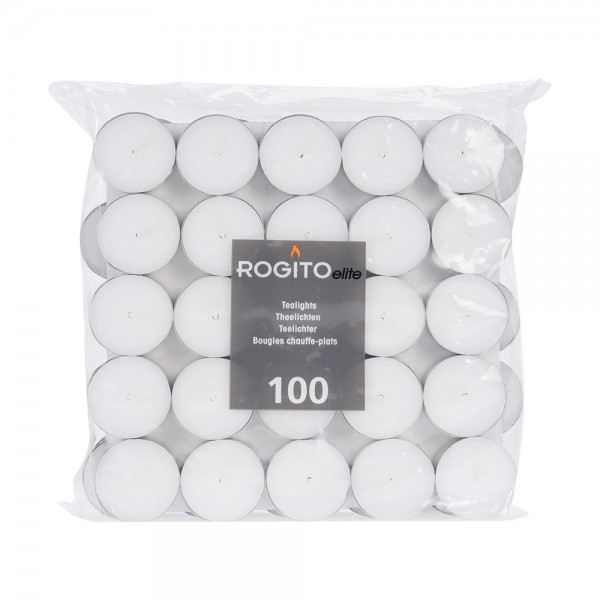 Tealight White 4 Hours Time 12Gm - 100Pc 500351-V001 by EH Excellent Houseware