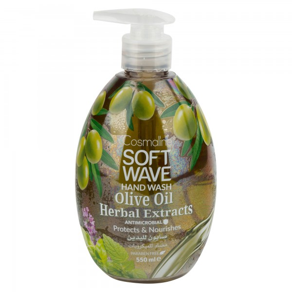 Cosmaline Soft Wave Hand Wash Olive Oil Herbal Extracts 550ml 501698-V001 by Cosmaline