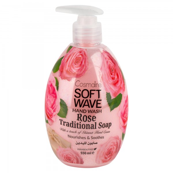 Cosmaline Soft Wave Hand Wash Rose Traditional 550ml 501700-V001 by Cosmaline