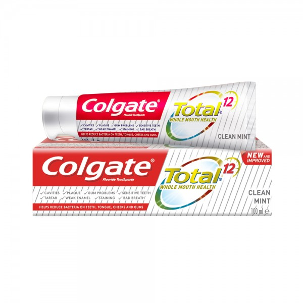 Colgate Total 12 Clean Mint Toothpaste 100ml 501735-V001 by Colgate