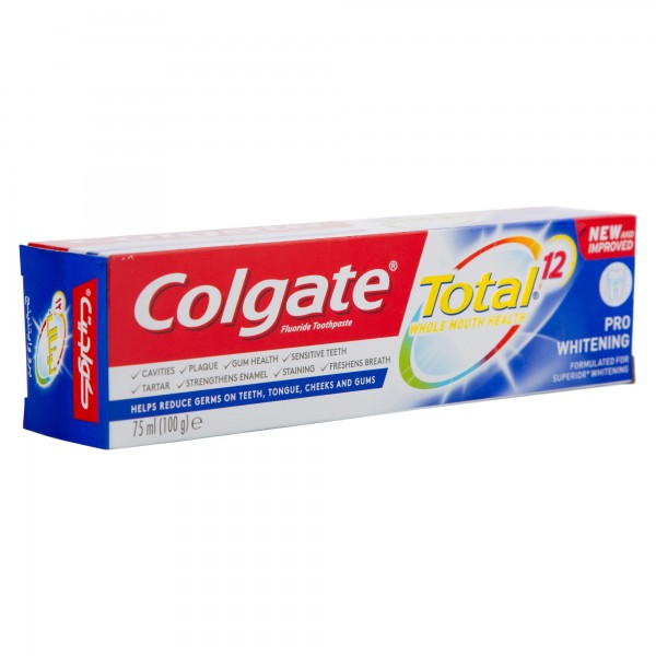 Colgate Total 12 Pro Whitening Toothpaste 75ml 501739-V001 by Colgate