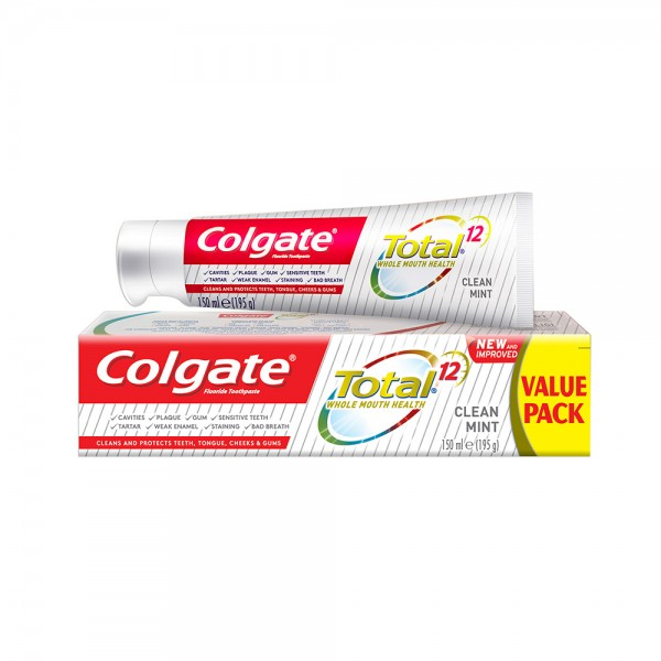 Colgate Total 12 Clean Mint Toothpaste 150ml 501741-V001 by Colgate