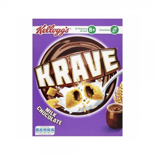 Kellogg's Krave Milk Chocolate 375g 502397-V001 by Kellogg's