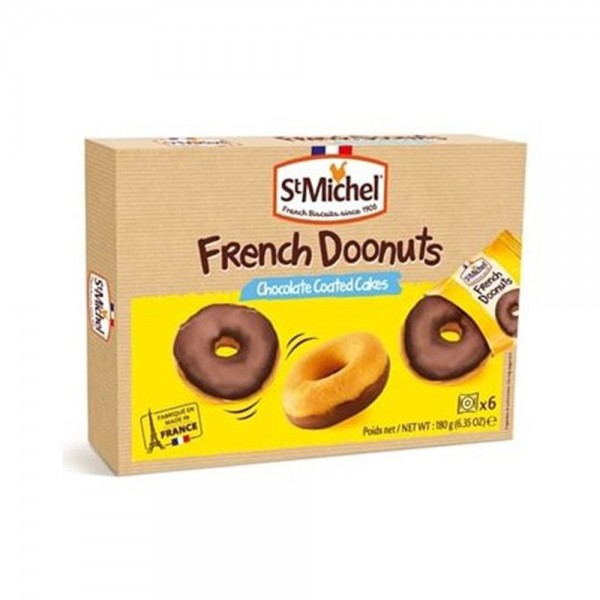 St Michel French Donuts Chocolate Coated Cakes 180G 502673-V001 by St Michel