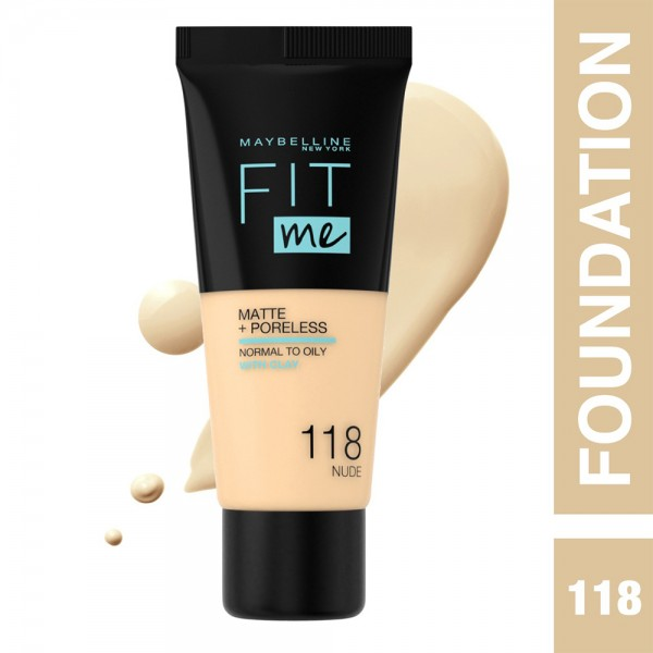 Maybelline Fit Me Fdt Mat. 118 Nude - 1Pc 503178-V001 by Maybelline