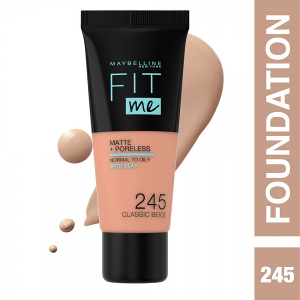 Maybelline Fit Me Fdt Mat. 245 Class - 1Pc 503182-V001 by Maybelline
