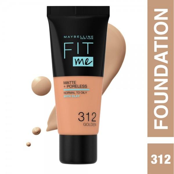 Maybelline Fit Me Fdt Mat.312 Golden - 1Pc 503183-V001 by Maybelline