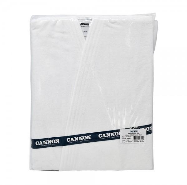 Cannon Bathrobe Velour White Kimono Medium Size 400G 503834-V001