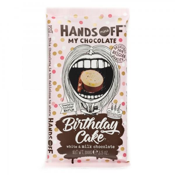 Hands Off My Chocolate Birthday Cake White & Milk Chocolate Bar 100G 504028-V001 by Hands Off My Chocolate