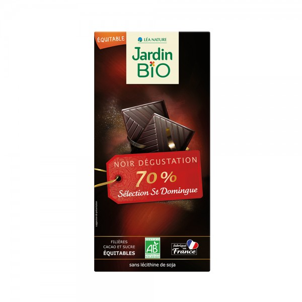 Jardin Bio Chocolat Noir 70 Pcent Cacao 504628-V001 by Jardin Bio