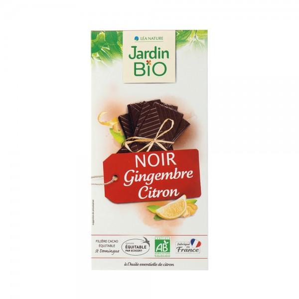 Jardin Bio Chocolat Noir Gingembre Citron 100G 504714-V001 by Jardin Bio