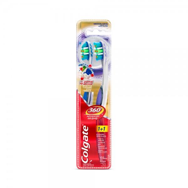 Colgate 360 Advanced Medium Toothbrush Value Pack 2pk 504925-V001 by Colgate